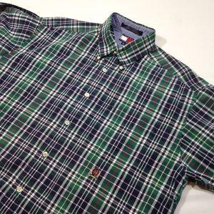 Vintage Tommy Hilfiger Short Sleeve Plaid Shirt